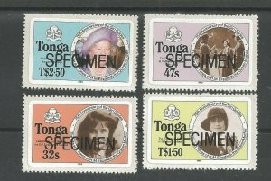 1985 Tonga Girl Guides 75th anniversary Type 'A' self-adhesive SPECIMEN