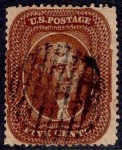 US Stamp #30 5c Jefferson Orange Brown USED  SCV $1300