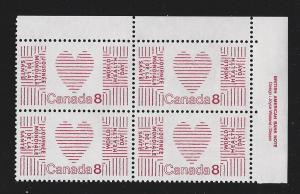 Canada  plate block mnh  Unitrade # 560