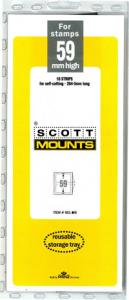 Scott Mounts Black 59mm STRIP 265mm, (Pgk. 10)(00951B)