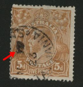 Australia  Scott 36 Used wmk 9 wide crown, narrow A 1915