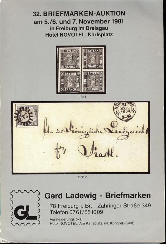 32. Briefmarken-Auktion, Gerd Ladewig  Nov. 5-7, 1981