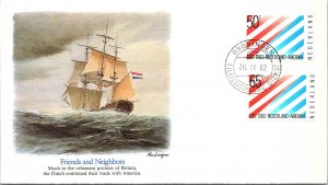 Netherlands, Worldwide First Day Cover, Ships