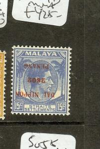 MALAYA   JAPANESE OCCUPATION (P2601B)  PENANG 15C BLUE SGJ84B INV OVPT MNH