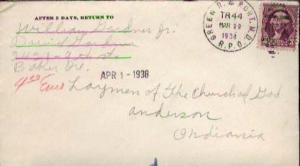 United States, 1922 Fourth Bureaus, U.S. R.P.O.'s, Oregon