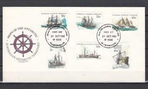 Australian Antarctic, Scott cat. L38~L50. Tall ships. Series III. First days.