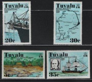 TUVALU 54-57, (4) set, MNH, 1977 Royal society expeditions