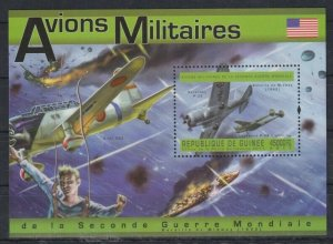 Guinea MNH S/S Military Airplanes 2011