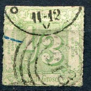 Germany/Thurn And Taxis 1865  Sc 22 Used With APS Cerificate CV $275.00