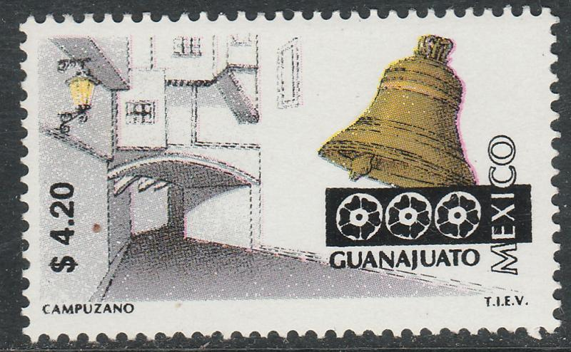 MEXICO 2127, $4.20 Tourism Guanajuato, street, bell. Mint, Never Hinged F-VF.