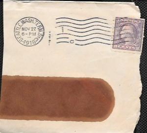 US #494 Washington Coil used on paper. Nice cancellation. dated 1918