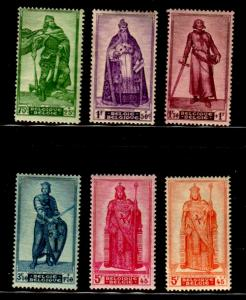 Belgium Sc 426-31 1946 Charity stamp set mint