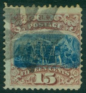 EDW1949SELL : USA 1869 Sc #118 Used. Fresh with neat cancel. PSAG Cert. Cat $800