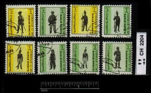 United Arab Emirates CLEARANCE: Mini Stamps Soldiers  ~ CLR90267