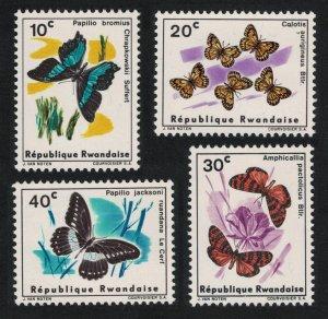 Rwanda Butterflies 4v 1965 MNH SG#112-115 SC#114-117