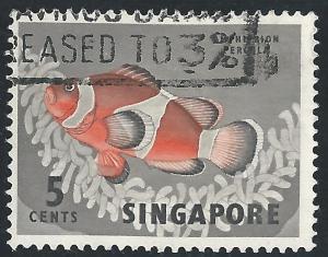 Singapore #55 5c Fish - Anemone Fish