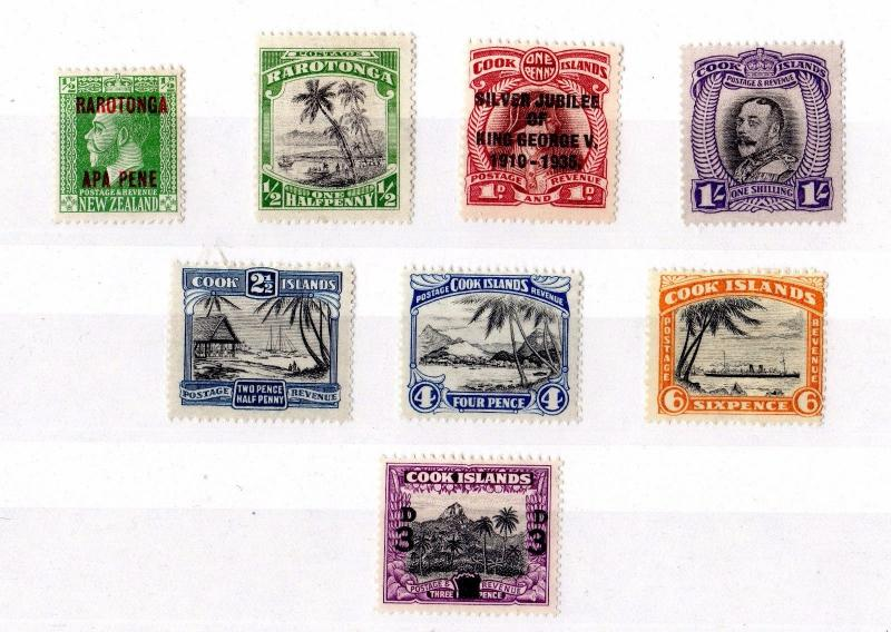 Cook Islands 1919/1940 Collection of 8 Values MH X7853