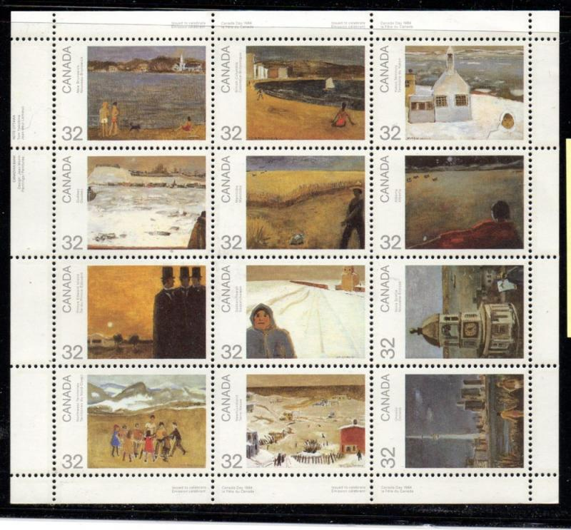 Canada Sc 1027a 1984 Canada Day Paintings stamp sheet mint NH