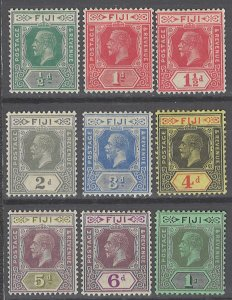 COLLECTION LOT # 2373 FIJI 9 MH STAMPS 1912+ CV+$31