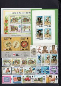 SOLOMON ISLANDS 1990-1992 YEARS SET OF 25 STAMPS, BOOKLET OF 3 PANES & 2 S/S MNH