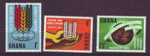 J24423 JLstamps 1963 ghana mnh set #132-4 designs