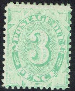 AUSTRALIA 1906 POSTAGE DUE 3D WMK CROWN/SINGLE LINE A COMPOUND PERF 11.5,12 & 11
