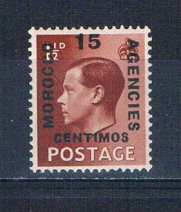 Great Britain Morocco Agencies 80 MNH Overprint 1936 (G0384)+
