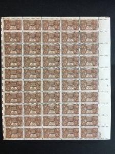 1948 sheet of stamps, Indian Centennial Sc# 972