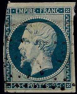 Valuable France #17 Used Fine w/cropping & crease SCV$250...choose the price!