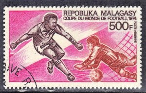 MALAGASY SCOTT #C120  1973 CTO SOCCER  SEE SCAN