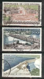 Ivory Coast Scott C14-C16 Used airmail stamp set