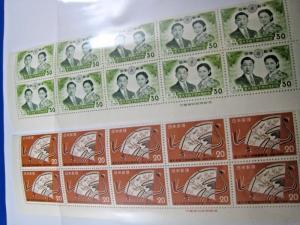 JAPAN  -  SCOTT # 669-670  -  BLOCKS OF 10  -  MNH