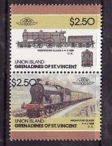 Union Is-Grenadines of St Vincent-Sc#57- id6-unused NH set-Trains-Locomotives-19