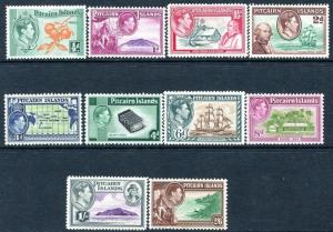PITCAIRN ISLANDS-1940-51 Set of 10 Values Sg 1-8 MOUNTED MINT V25018