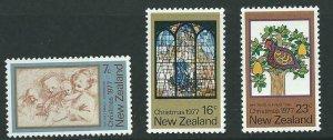 NEW ZEALAND SG1153/5 1977 CHRISTMAS MNH
