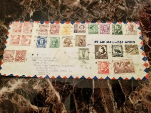 1952 Sydney Australia Multi Franked Cover to England