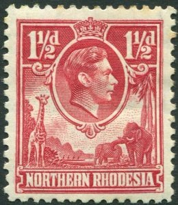 NORTHERN RHODESIA-1938-52 1½d Carmine-Red Sg 29 AVERAGE MOUNTED MINT V35944