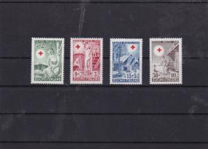 finland 1949 mnh red cross  stamp set  ref 7422