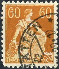 Switzerland #140 60c Helvetia Used/H