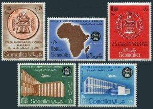 Somalia 236-238,C65-C66,MNH.Michel 367-371. University Institute,1960.Arms,Map.
