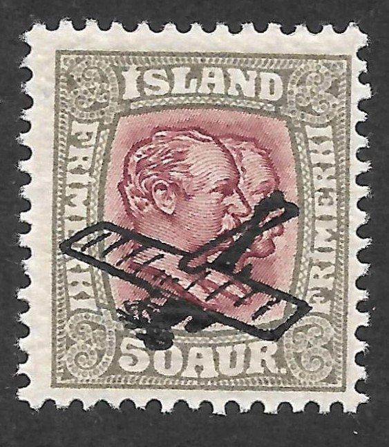 Doyle's_Stamps: Iceland First Airmails of 1928/1929 Scott #C1* to #C2*
