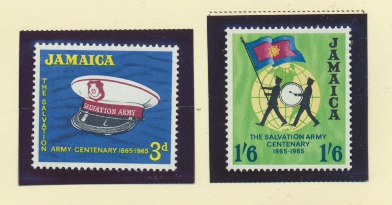 Jamaica Scott #242 To 243, Mint Never Hinged MNH, Salvation Army Issue From 1...