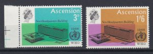 ASCENSION  1966  W H O HEADQUARTERS  SET  MNH