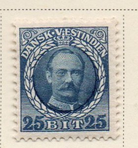 Danish West Indies Sc 47 1908 25 bit blue & dark blue Frederik VIII stamp mint
