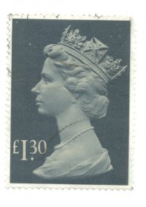 Great Britain Sc MH170 1983 £1.30 QE II Machin Head stamp used