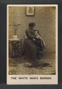 1906 Doylestown PA USA RPPC Postcard Cover The White Man's Burden RPO