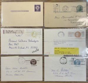 US Postal Card Used LOT #UX27,46,58,64,93,108,153,198,381,534,556,627 [COVER217]
