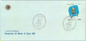 84796 - ITALY - Postal History: FDC COVER official FOOTBALL CLUB stationery 1982