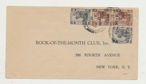 MALAYA -KUALA LUMPUR TO USA 1932 COVER, 2x5c+2x1c RATE (SEE BELOW)