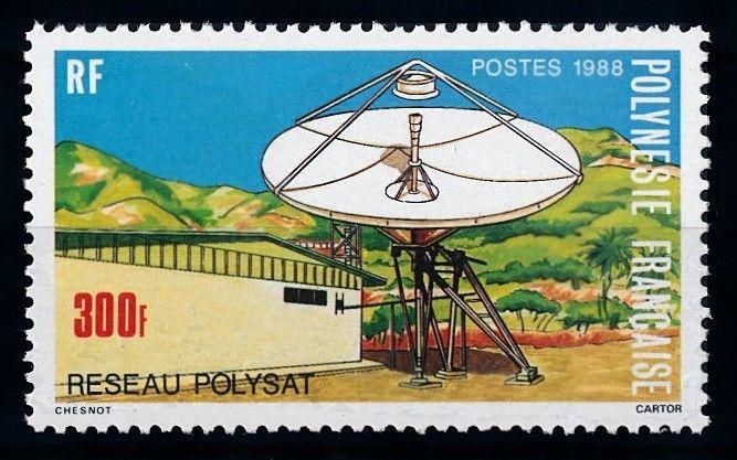 [65040] French Polynesia 1988 Space Travel Weltraum Earth Station  MNH